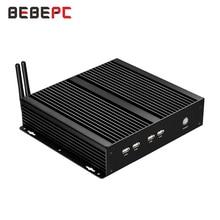 BEBEPC Fanless Mini Rechen 4 COM Pentium 2117U Celeron 1037U Windows XP Mini PC Core i5 3317U 4 * RS232 wifi 8 * usb Industrielle PC