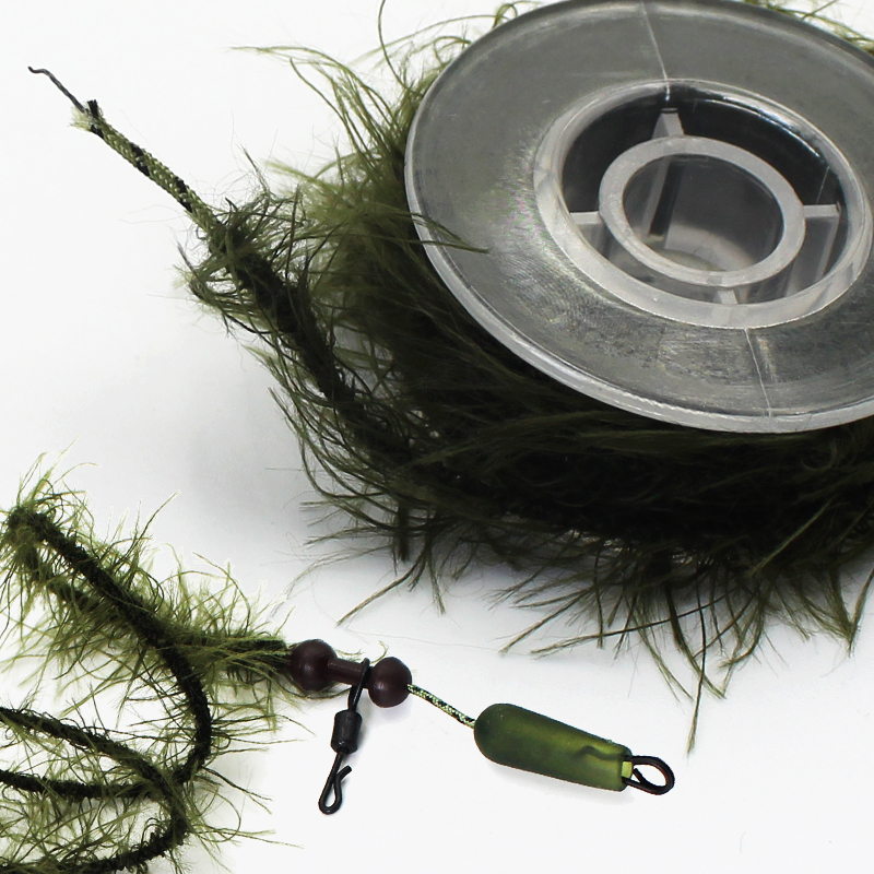 5M Carp Fishing Leadcore Line Leader Camo Weed Effect Leadcore for Carp Chod Hair Rigs Fishing Tackle Line 25 35 45LB Weed Lines