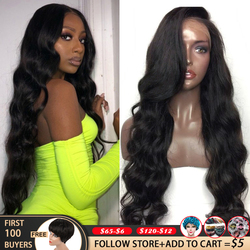 Perruque Body Wave Lace Frontal Wig 180 sans colle brésilienne-QT 30 | Cheveux Remy, 360 HD, 13x6, pre-plucked