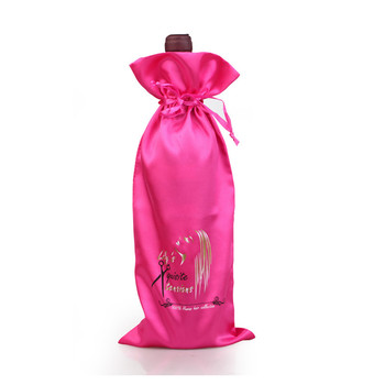 50PCS Satin Drawstring Bag Silk Drawstring Pouch Jewelry Cosmetic High-grade Wine Packaging Pouch Storage Pocket Hair Print Logo