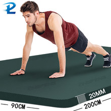 200*90CM espesar antideslizante Fitness esterilla de alta densidad esterillas de Yoga para ejercicio para gimnasio casa Fitness ejercicio de la gimnasia