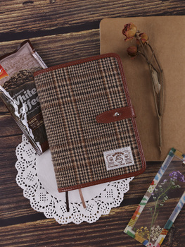 Kinbor Simple Hand Notebook A6 Artistic Notebook Plaid Hand Notebook Plaid Diary Notebook 2020 Planner Notebook Grid Noteboy paris notebook