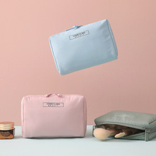 1 pc Solid Ins Cosmetic Bag Women Plain Necessaire Make Up Bag Travel Waterproof Portable Toiletry Makeup Case 50pcs lot cosmetic bag women necessaire make up bag travel portable dot print makeup case toiletry kits