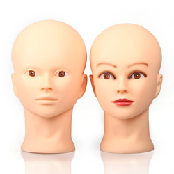 OLD STREET Professional Cosmetology Bald Mannequin Head Manikin Model Doll Head for Make Up Making Wigs with Clamp Tpins