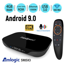 Amlogic S905X3 Android 9.0 Tv Box 4 Gb 32 Gb 64 Gb 128G 2.4G & 5.8Gwifi 4K 8K 24fps Bluetooth Voice Assistan Set Top Box