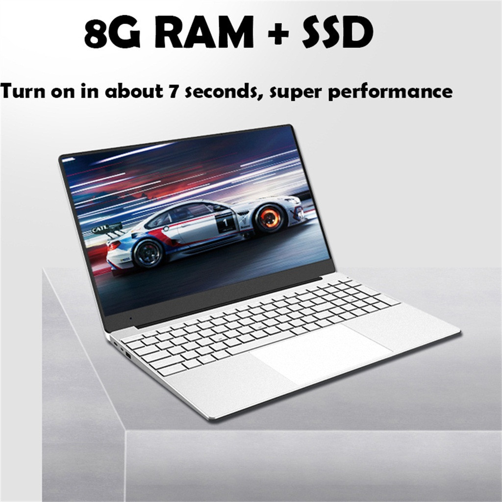2020 новый ноутбук 15,6 дюймов 1080P FHD ноутбук для студентов офиса игровой ноутбук Windows 10 четырехъядерный 8 Гб ОЗУ 512/256/128 Гб SSD 1920x1080 нетбук