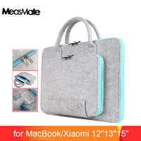 Feltro di lana Universale Per Notebook Sacchetto Della Cassa del Manicotto Del Computer portatile 12 13 15 per Macbook Air Pro 13.3 Caso di Xiaomi Aria 13