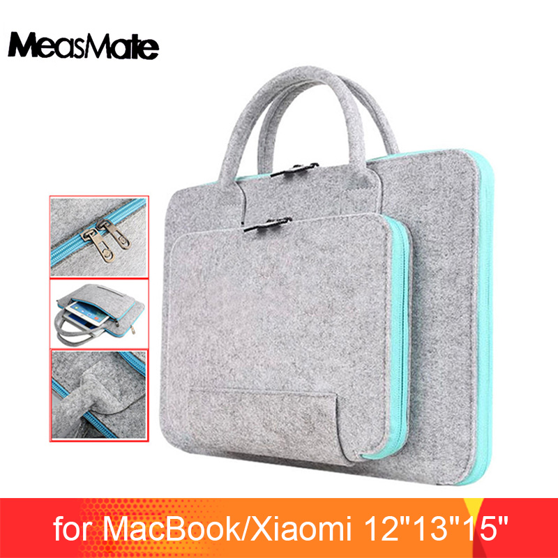 Wolvilt Universele Notebook Laptop Sleeve Tas Case 12 13 15 Voor Macbook Air 13.3 Pro Case Xiaomi Air 13