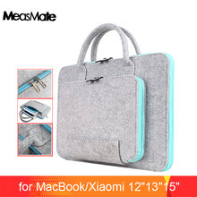 Funda para ordenador portátil Universal de fieltro de lana 12 13 15 para Macbook Air 13,3 Pro funda Xiaomi Air 13(China)