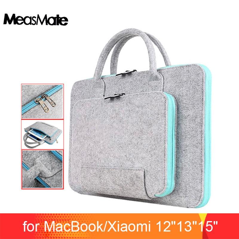Wool Felt Universal Notebook Computer Laptop Sleeve Bag Case 12 13 15 for Macbook Air 13.3 Pro Case Xiaomi Air 13
