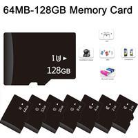 Cartão 64mb-4/10 gb 64gb 32gb 16gb 8gb para alto-falantes da câmera do smartphone u1 micro cartão de memória do flash tf hc xc classe 1/3 uhs 128 tf