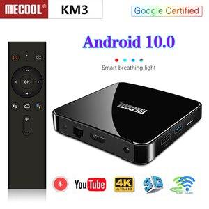 Image 4 - Max 4GB RAM 128GB ROM Mecool Android TV 10.0 KM3 TV kutusu Android 9.0 Google sertifikalı S905X2 4K akıllı medya oynatıcı KM9 PRO ATV