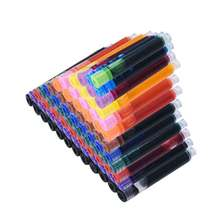 12PCS/Set Colourful Ink Sac Fountain Pen Ink Cartridges Refills Ink 3.4mm Blue Black Refills Drawing School Office Supplies