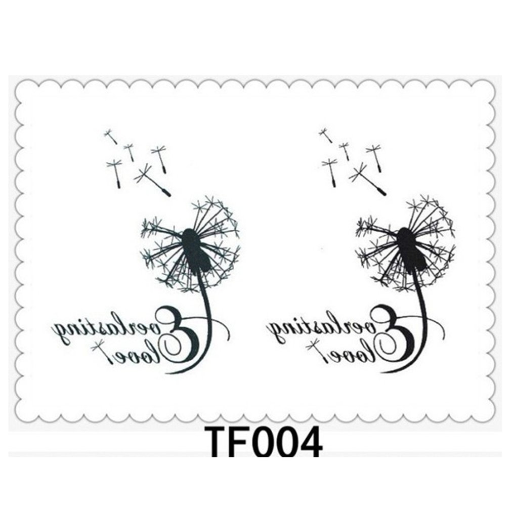 Waterproof Beauty Tattoo Paste Dandelion Letter Body Painting