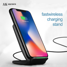 QI 10W Mobile Phone Wireless Fast Charger Station for huawei p30 pro Accesorios iphone 8 huawei p30 pro Desk Dock Station