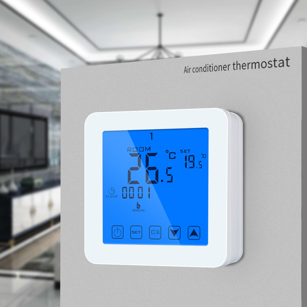 Touch Screen Digital Thermostat Programmable For Gas Boiler Heating Temperature Controller Regulater Battery Power Thermostat