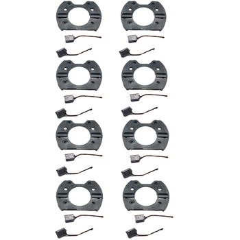 16pc Carbon Brushes for ER11 300W 400W Chrome CNC DC Spindle Motor w/Brush Holder hot sale dc 12 48v 400w aluminum alloy cnc spindle motor er11 mach3 pwm speed controller mount 3 175mm