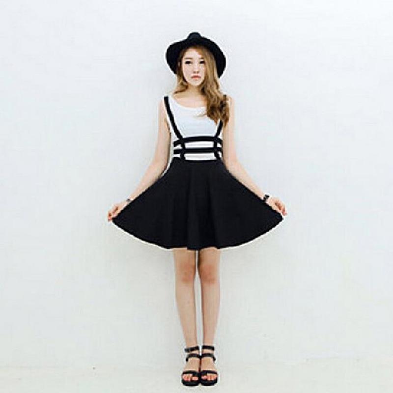Женские мини-юбки 2020, Faldas Mujer Moda, юбки на подтяжках для девочек, бандажные короткие трапециевидные юбки на лямках, Jupe Femme