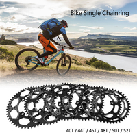 Bike Narrow Wide Chain Ring 104 BCD Round 40T / 44T / 46T / 48T / 50T / 52T Crankset Single Chainring Bike Round Chainwheel