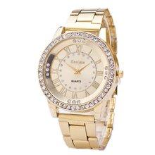 Round Dial Wristwatches Diamond Women Watch Stainless Steel Band Calendar Quartz Top Brand Luxury Fashion Ladies Best Gift