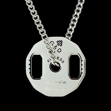 Barbell Necklace men stainless steel Fitness Pendant weightlifting steel necklace jewelry for neck gifts for male accessories stainless steel barbell pendant necklace for men