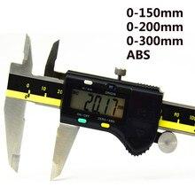 0-150mm 200mm 300mm de aço inoxidável digital caliper origem modo eletrônico vernier caliper micrômetro digitaler messschieber caixa