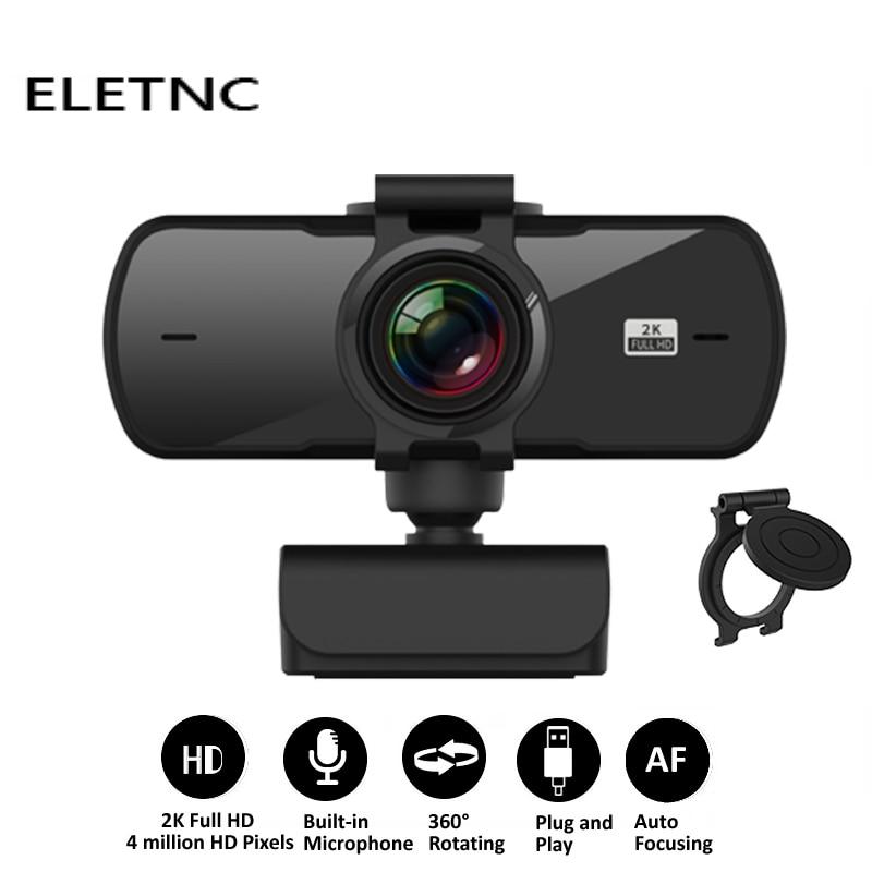 Веб-камера 1080P 2K HD компьютер веб-камеры ПК Камера С микрофоном USB Plug And Play видеосвязи Конференции работы PC Gamer сетевого вещания