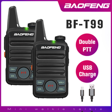 BAOFENG T99 Mini Two Way Radio BF-T1 Walkie Talkie bf t1 UHF Portable Ham Radio Kids Toys Handheld FM Transceiver USB charging