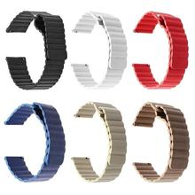 Замена браслета 20 мм кожаный спортивный ремешок для часов с магнитной пряжкой Замена ремешка магнитного поглощения Смарт-часы