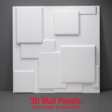 50x50cm 3D wall panel Simple abstraction concave Art stickers house Decor covering mould  Wood Carving Flower vase