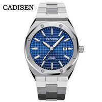 CADISEN-relojes mecánicos automáticos para hombre, reloj de pulsera de acero inoxidable, resistente al agua de 2020 M, reloj de NEGOCIOS DE HOMBRE, 100