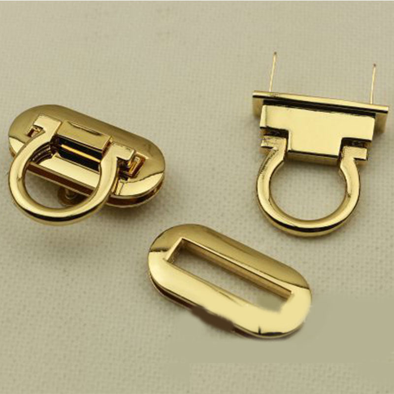 1PC Metal Lock Round Rectangle Bag Accessories Buckle Clasp For Handbags Shoulder Bags Purse Tote Accessories DIY Craft Hardware
