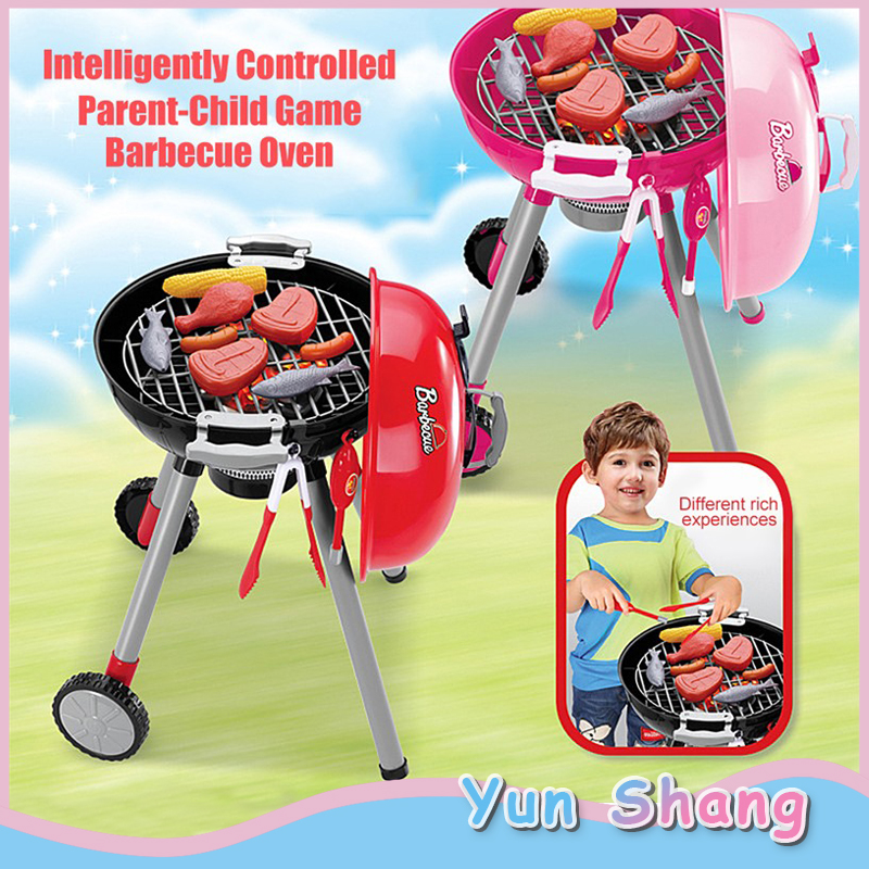 Kitchen Performing Gift Kids Toys Sets BBQ Barbecue Grill Toy Accessories Children's Play Role Chef Puzzle Simulation BBQ Suits