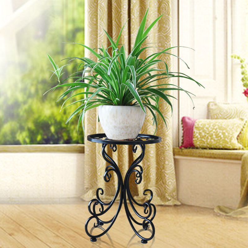 A Art Flower Rack Room Built-in Frame Iron Art Landing Type Balcony Green Luo Chlorophytum Discharge Flowerpot Of Flower Airs