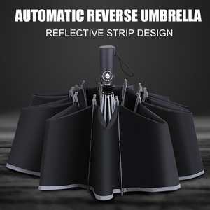 Men Folding Reverse Umbrellas