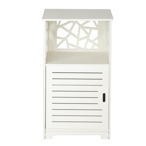 Single Door With Compartment 70cm high Bedside Table bathroom cabinet PVC (41 x30x 70)cm bedroom furniture storage cabinet.