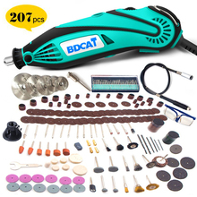 Bdcat 180 ワット電気グラインダーツールミニドリル研磨可変速度 207 個電源ツール dremel 回転工具キットアクセサリー