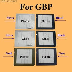 Image 1 - ChengHaoRan 50 adet Gümüş Siyah Gri Altın Plastik Cam Ekran Lens Için GBP Koruyucu Kapak Değiştirme GameBoy Cep