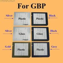 ChengHaoRan 50 sztuk srebrny czarny szary złoty szkło z tworzywa sztucznego obiektyw do GBP pokrywa ochronna do GameBoy