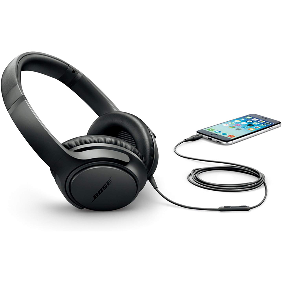 Bose soundtrue around ear headphones ii 3.5mm wired bass headset game sport earphone inline remote with mic for ipod/iphone/ipad