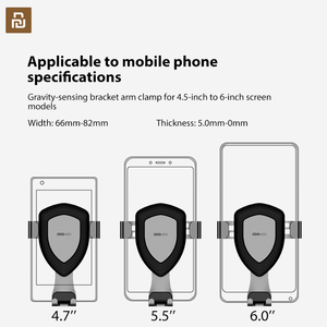 Image 5 - Xiaomi COOWOO Smart Car Bracket Clip Mobile Phone Holder Gravity Sensor One handed Operation for 4.7/5.5 /6 Inches Phones
