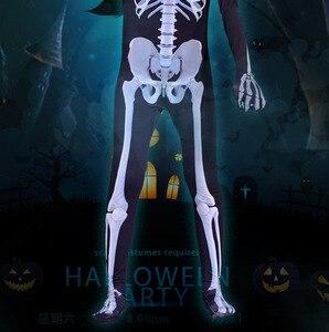 Image 4 - 가족 무서운 악마 악마 해골 해골 남자 여자 아이 할로윈 카니발 파티 의상