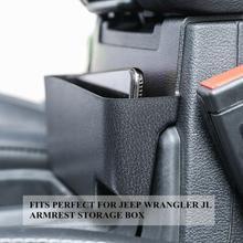 Автомобильный задний подлокотник, коробка для хранения, органайзер, чехол для Jeep Wrangler JL JT 2018-2020, черный, высокое качество, ABS