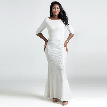 African Dresses for Women Riche Bazin Dress Vestido Mermaid Long Dresses African Clothes Plus Size Clothing African for Women