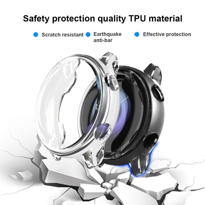 Smartwatch Case Protector For Samsung Galaxy Watch Active, Anti-scratch Shock Resistant TPU Wristwatch Protective Cover