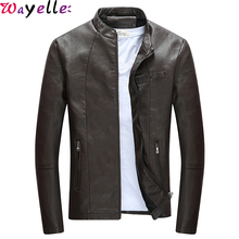 Motorcycle Leather Jackets Men 2019 New Autumn and Winter Coats Male Fashion Windbreaker Outwear