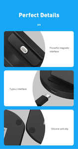 Image 5 - SIKAI Magnetic Charging Dock For iPhone/Micro USB/Type C Phone Holder 5A Magnet Charger For iPhone 11 pro huawei mate 30 pro
