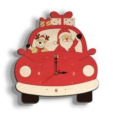 Рождественские деревянные настенные часы тихие рождественские