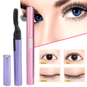 1Pc 2 Colors Portable Fast Heated Electric Eyelash Curler Long Lasting Curl Eyelash Curling Pen Dry Eye lash Beauty Makeup Tool