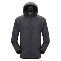 Quick drying Hiking Sports Sun drying Top Hat Waterproof Nylon Jacket Lightweight Hiking Jackets    -